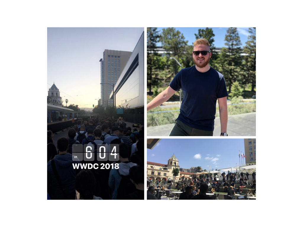 Me nerding out in San Jose at WWDC 2018